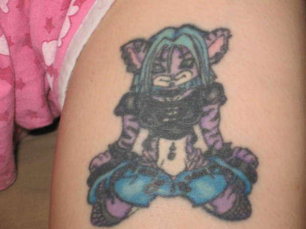 My slutty kitty. I love this tat. tattoo