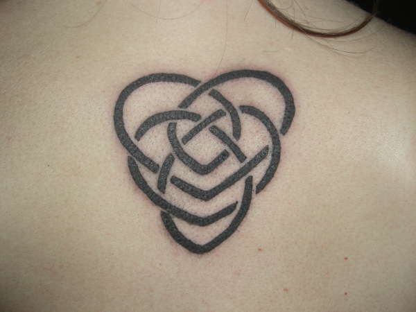 celtic motherhood heart tattoo