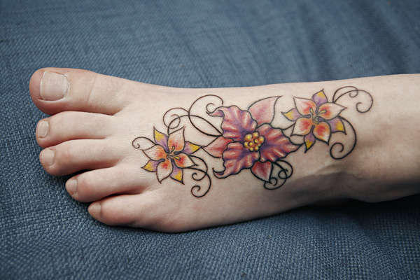 flower foot tattoo tattoo