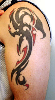 Dragon before addition/fix tattoo