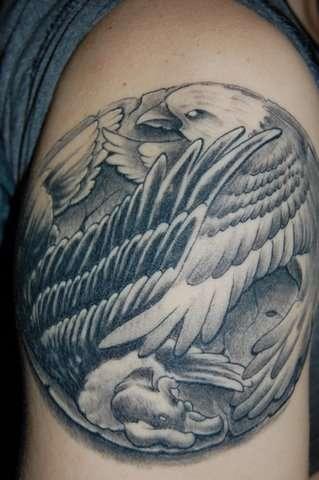 Eagle and Condor tattoo