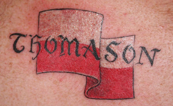 Polish Flag tattoo