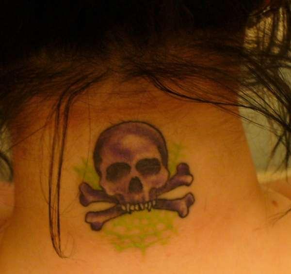 Vampire Skull and Crossbones tattoo