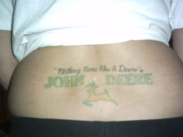 Nothing Runs Like A Deere tattoo