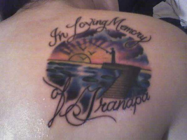 In Loving Memory of Grandpa tattoo