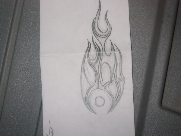 Wrist Flame tattoo