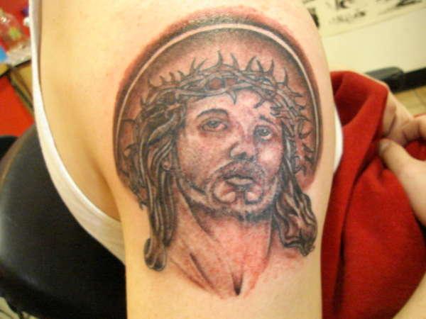 jesus portrait tattoo