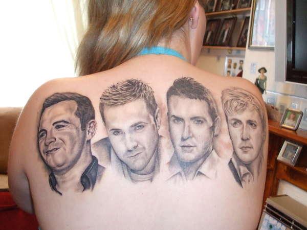 Westlife..boyband  UK tattoo