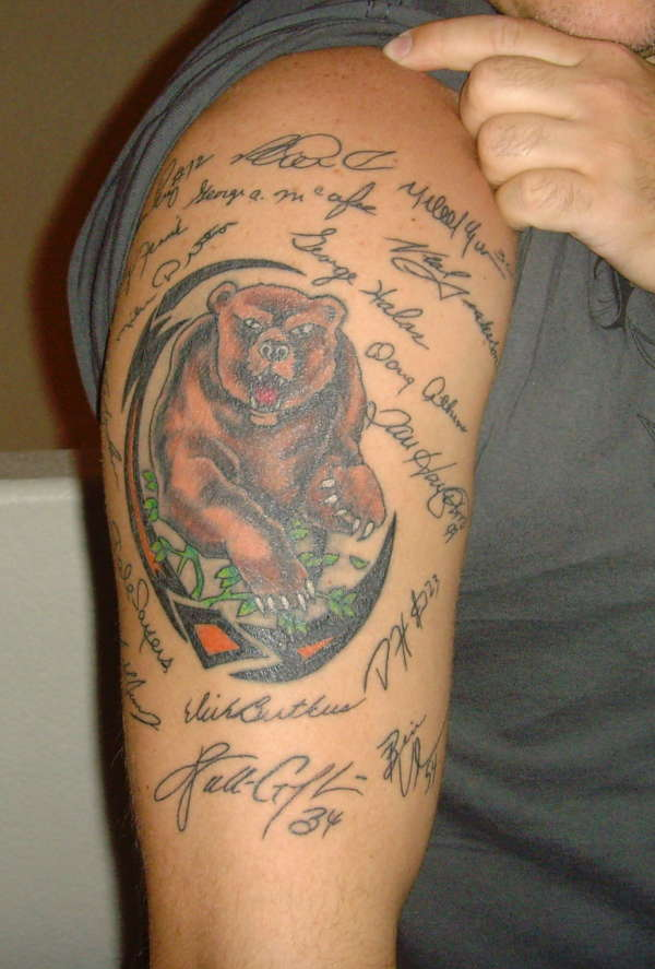 CHICAGO BEARS tattoo