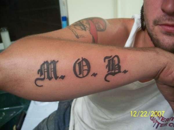 M. O. B. tattoo