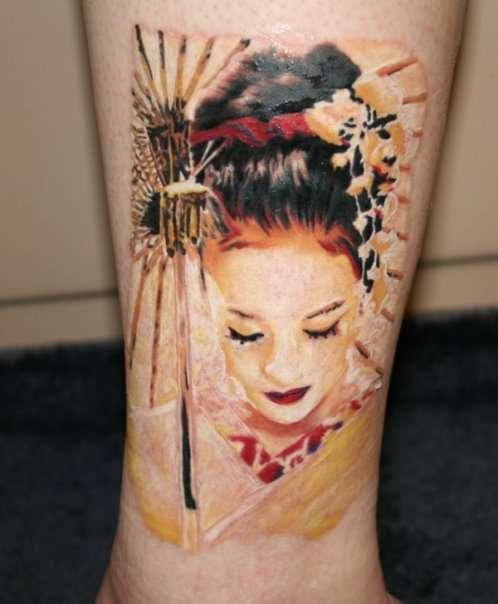 Geisha... for my wife tattoo