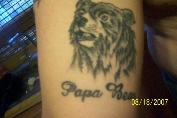 papa bear tattoo