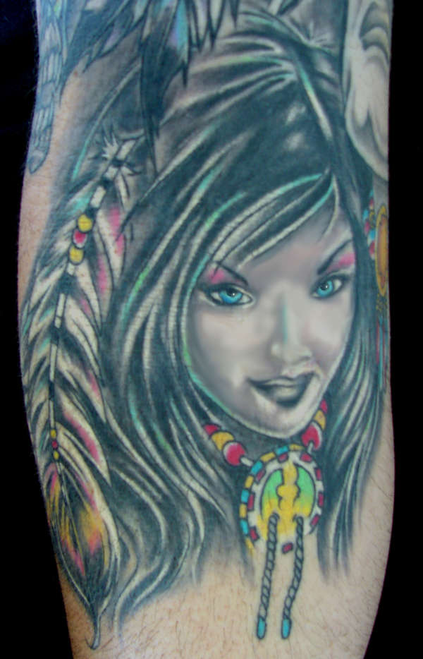 Indian chick tattoo