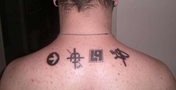Linkin Park Symbols Tattoo
