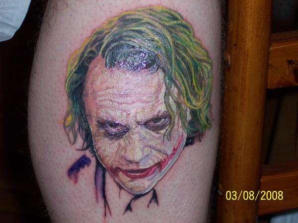 Heath Ledger Joker DarkNight  Batman Tattoo tattoo