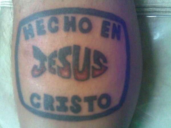 made in JESUS tattoo tattoo