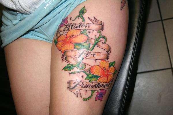 Punishment tattoo
