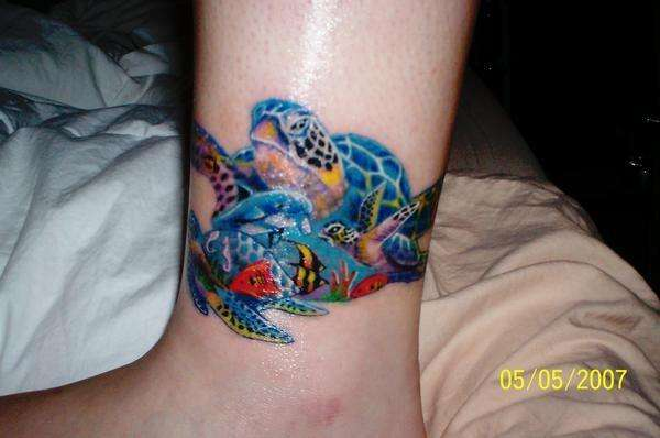 sea turtles tattoo. Black Bedroom Furniture Sets. Home Design Ideas