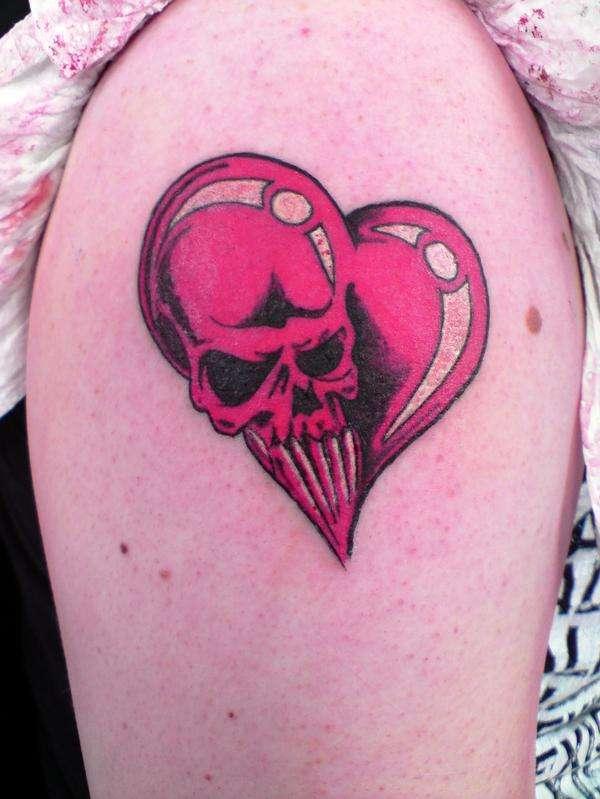 Skull Heart tattoo