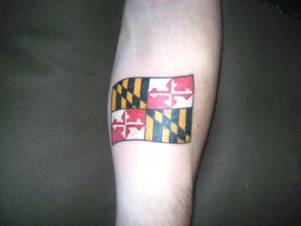 maryland flag tattoo. Black Bedroom Furniture Sets. Home Design Ideas