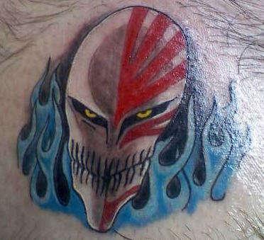 Hollow ichigo tattoo