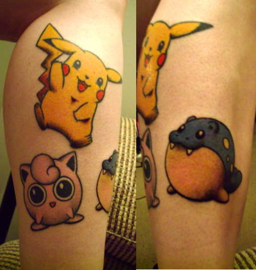 Pokemon Tattoo Complete: Now with added spheal! tattoo