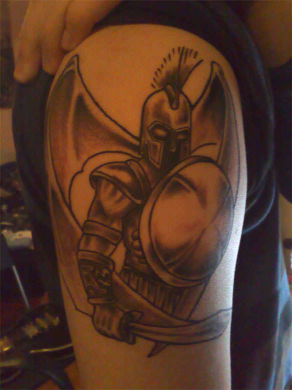 ares god of war tattoo. Black Bedroom Furniture Sets. Home Design Ideas