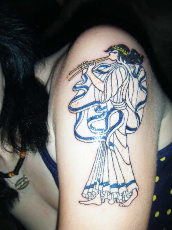 Euterpe, Muse of Music tattoo