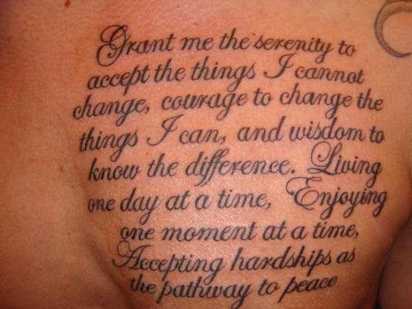 serenity prayer tattoo