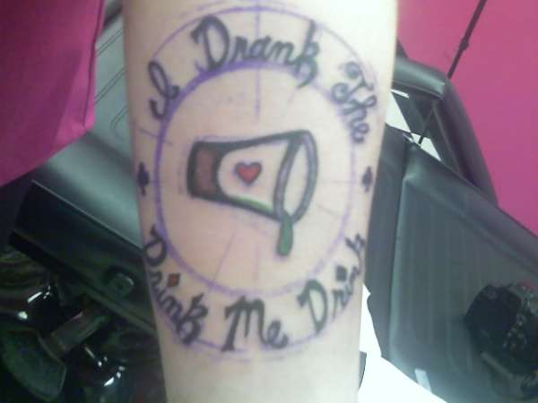 drink me tattoo
