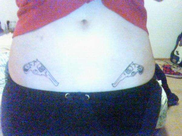 My little 44 magnums tattoo