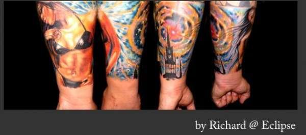 Quarter Sleeve tattoo