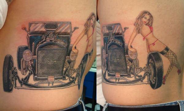 Hot rod tattoo for Hot rod tattoos