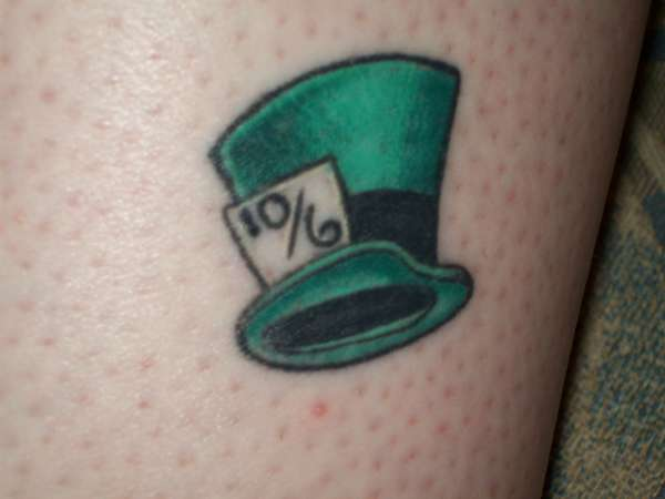 The Mad Hatter's Hat tattoo