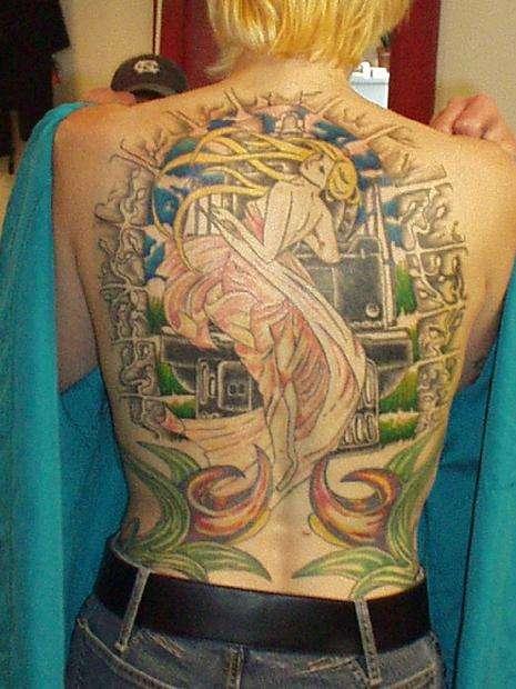 My wife's back tattoo