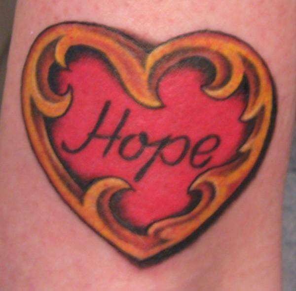 My hope heart tattoo
