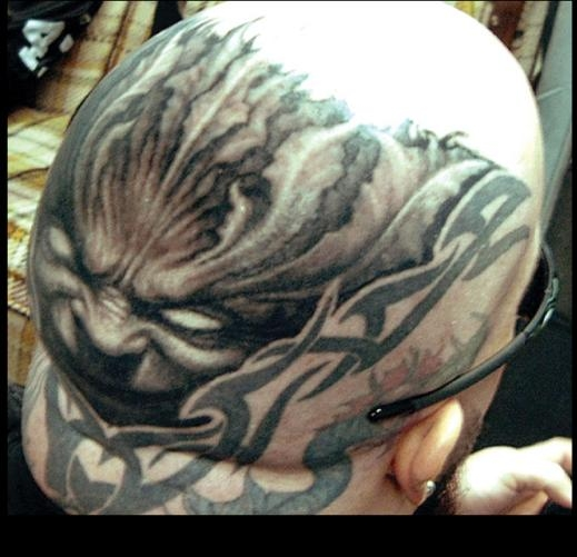 KERRY KING'S HEAD (SLAYER) tattoo