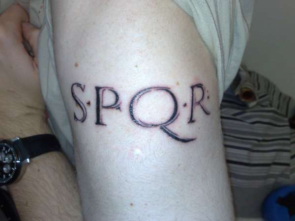 SPQR tattoo