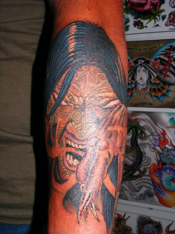 kiwi maroi dude tattoo