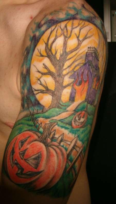Halloween Half Sleeve tattoo