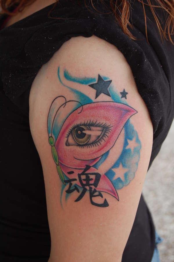 Butterfly Eye tattoo