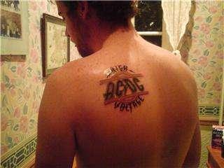 AC/DC HIGH VOLTAGE tattoo