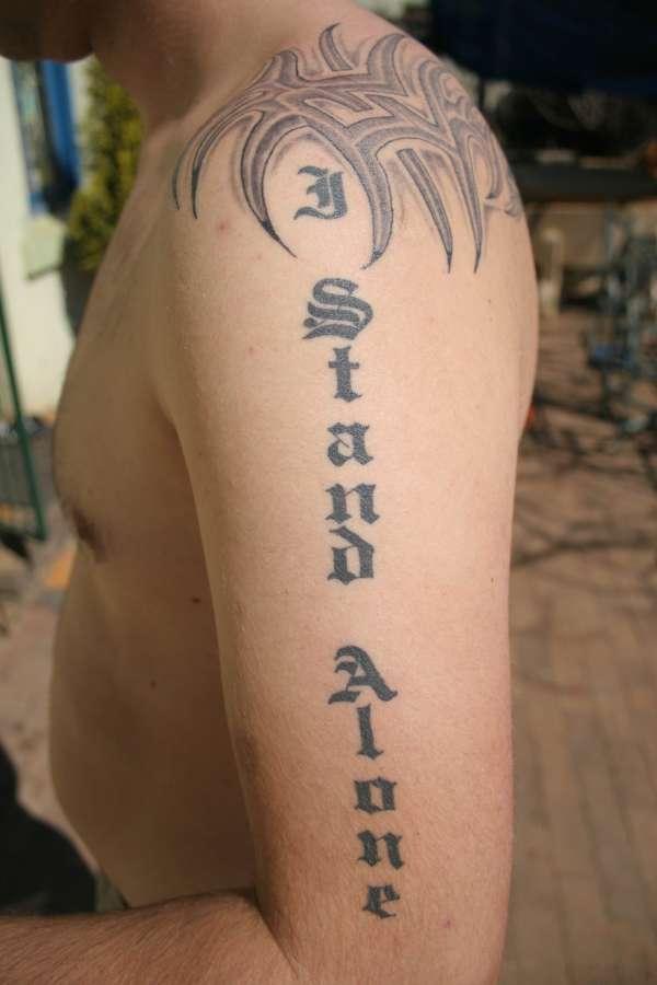 I stand alone tattoo