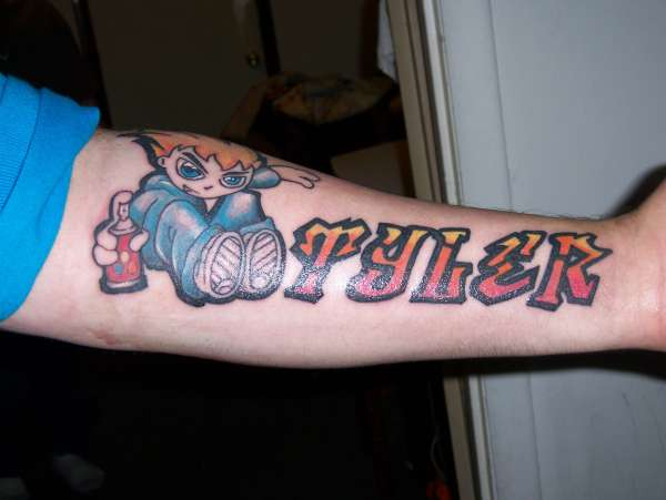 Son's Name tattoo