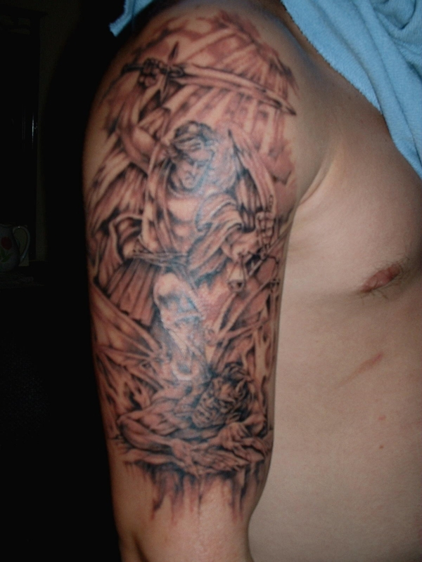 St. Michael vs. Satan tattoo
