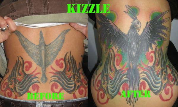 Phoenix Cover Up tattoo
