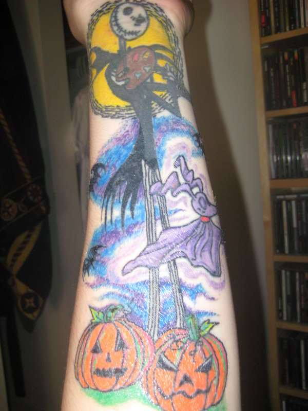 Jack Skellington Sleeve tattoo