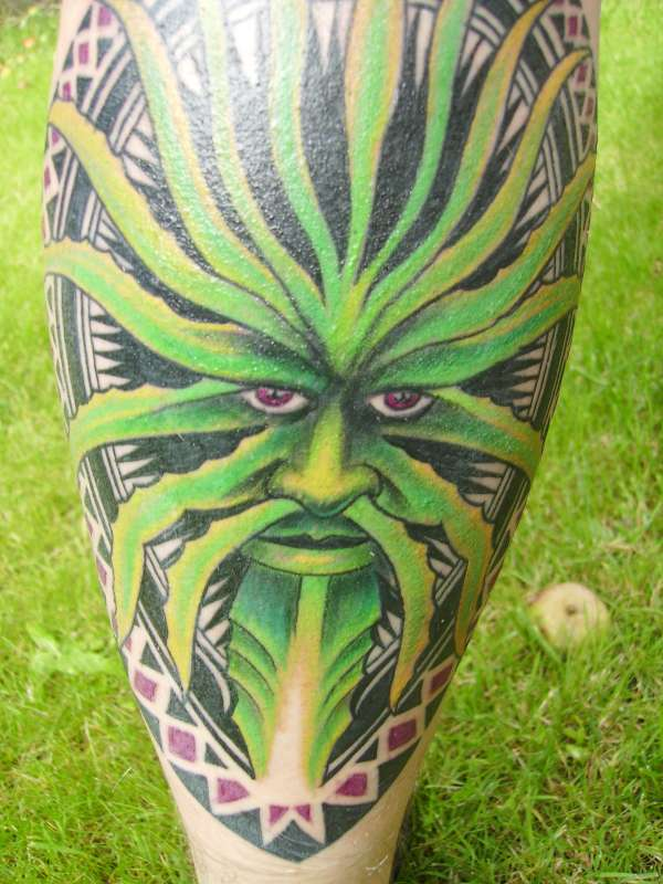 Celtic Greenman Armband: Greenman Tattoo