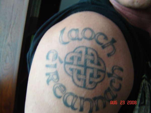 Irish Warrior tattoo