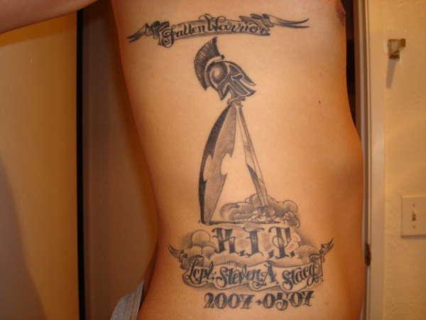 Marine memorial tattoo